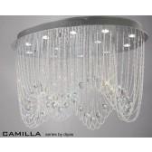 Diyas Camilla Ceiling 12 Light Polished Chrome/Crystal