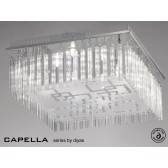 Diyas Capella Ceiling 8 Light Polished Chrome