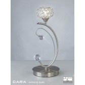 Diyas Cara Table Lamp 1 Light Satin Nickel/Crystal