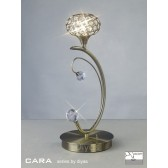 Diyas Cara Table Lamp 1 Light Antique Brass/Crystal