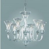Impex Stara Chandelier - 6 Light, Polished Chrome