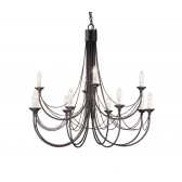 Elstead CB12 BLACK Carisbrooke 12 - Light Chandelier Black