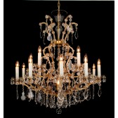 Impex Misto Chandelier - 16 Light, Gold