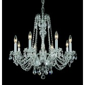 Impex Stella Chandelier - 8 Light, Polished Chrome
