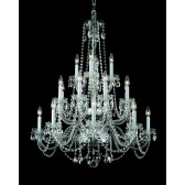Impex Stella Chandelier - 20 Light, Polished Chrome