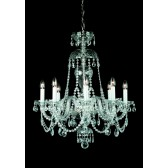 Impex Dolni Chandelier - 8 Light, Nickel