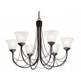 Elstead CB6 BLACK Carisbrooke 6 - Light Chandelier Black
