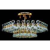 Impex Ancona Ceiling Light Gold - 6 Light