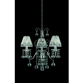 Impex Perpignan Chandelier - 3 Light, Polished Chrome