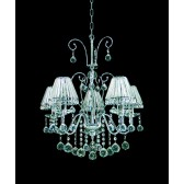 Impex Perpignan Chandelier - 5 Light, Polished Chrome