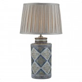 Cerano Table Lamp Blue Taupe Base Only