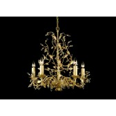 Impex Italiano Chandelier Gold - 5 Light