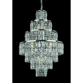 Impex New York Chandelier Chrome - 8 Light