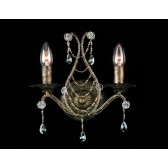 Impex Montpellier Wall Light Antique Bronze - 2 Light