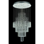 Impex Barcelona Ceiling Light Chrome - 7 Light