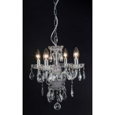 Impex Rodeo Chandelier - 4 Light, Chrome