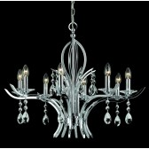 Impex Turin Chandelier - 8 Light, Chrome