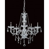 Impex Imperia Chandelier Chrome - 5 Light