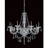 Impex Imperia Chandelier Chrome - 8 Light