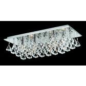 Impex Parma 6-Light Ceiling Light - Chrome