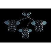 Impex Veta Ceiling Light - 3 Light, Chrome