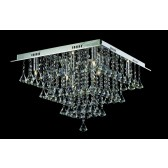 Impex Parma Ceiling Light - 8 Light, Chrome