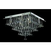Impex Parma Ceiling Light - 8 Light, Chrome