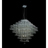 Impex Parma Square Chandelier Chrome - 12 Light
