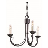Elstead CH3 BLACK Chartwell 3 - Light Chandelier Black