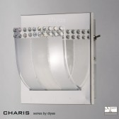 Diyas Charis Wall Lamp Switched 1 Light Chrome/Crystal