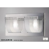 Diyas Charis Wall Lamp Switched 2 Light Chrome/Crystal