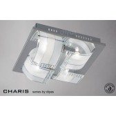 Diyas Charis Ceiling 4 Light Small Chrome/Crystal