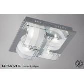 Diyas Charis Ceiling 4 Light Small Chrome/Crystal