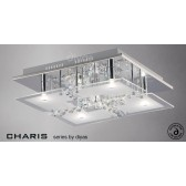 Diyas Chisora Ceiling 5 Light Chrome/Crystal