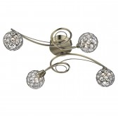 Circa Semi Flush Ceiling Light - 4 Light, Antique Brass