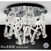 Diyas Class White Round Ceiling 10 Light