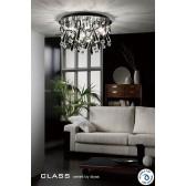 Diyas Class Black Round Ceiling 20 Light