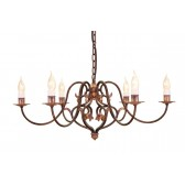 Elstead CN6 BUR/GOLD Coniston 6 - Light Chandelier Burnished Gold