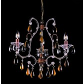 Impex Versailles Chandelier Rustic Bronze - 3 Light