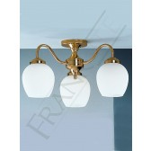 Franklite Alba Ceiling Light - 3 Light, Polished Brass