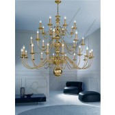 Franklite Delft Ceiling Light - 32 Light, Polished Brass