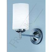 Franklite Decima Single Wall Bracket - Matt Nickel, Matt Opal Glass Cylinder