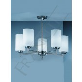 Franklite Decima Ceiling Light - 5 Light, Matt Nickel, Complete with Shades