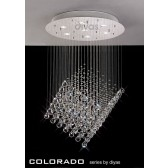 Diyas Colorado Pendant 7 Light Polished Chrome/Crystal