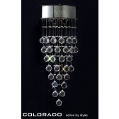 Diyas Colorado Wall Lamp 2 Light Polished Chrome/Crystal