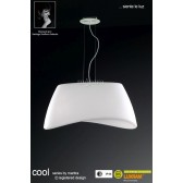 Cool Pendant 2 Light Indoor/Outdoor IP44 Polished Chrome/White