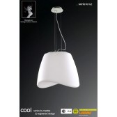 Cool Pendant 3 Light Indoor/Outdoor IP44 Polished Chrome/White