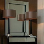 Corvina Walnut and Silver Table Lamp
