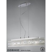 Diyas Cosmic Pendant 5 Light Chrome/Crystal