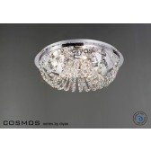 Diyas Cosmos Ceiling 5 Light Polished Chrome/Crystal